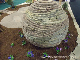 Lithadelic Dry Stone Sphere by Devine-Escapes