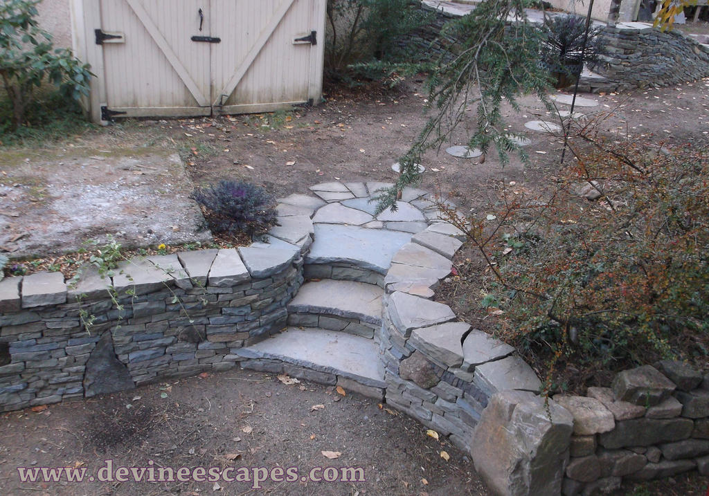 Dry Stone Steps by Devine-Escapes