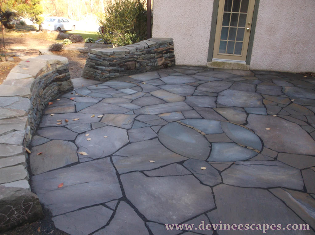 Dry Laid Flagstone Patio In Chester Springs By Devine