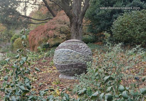 Garden Orb, Brookside Gardens dry stone sphere