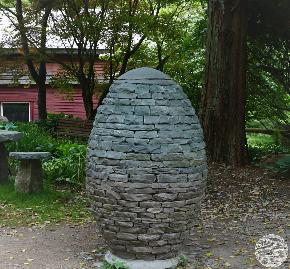 egg cairn with color gradiant