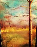 Tree Landscape by xLeFeu