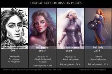 Sandramalie Commission Prices (DIGITAL ART)