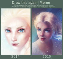 Draw again meme by SandraWinther
