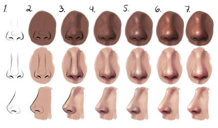 Semi-realism nose - step by step by SandraWinther