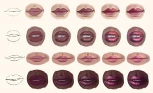 Lip Study - Step by Step