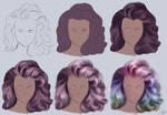 Rainbow Hair - Step by step