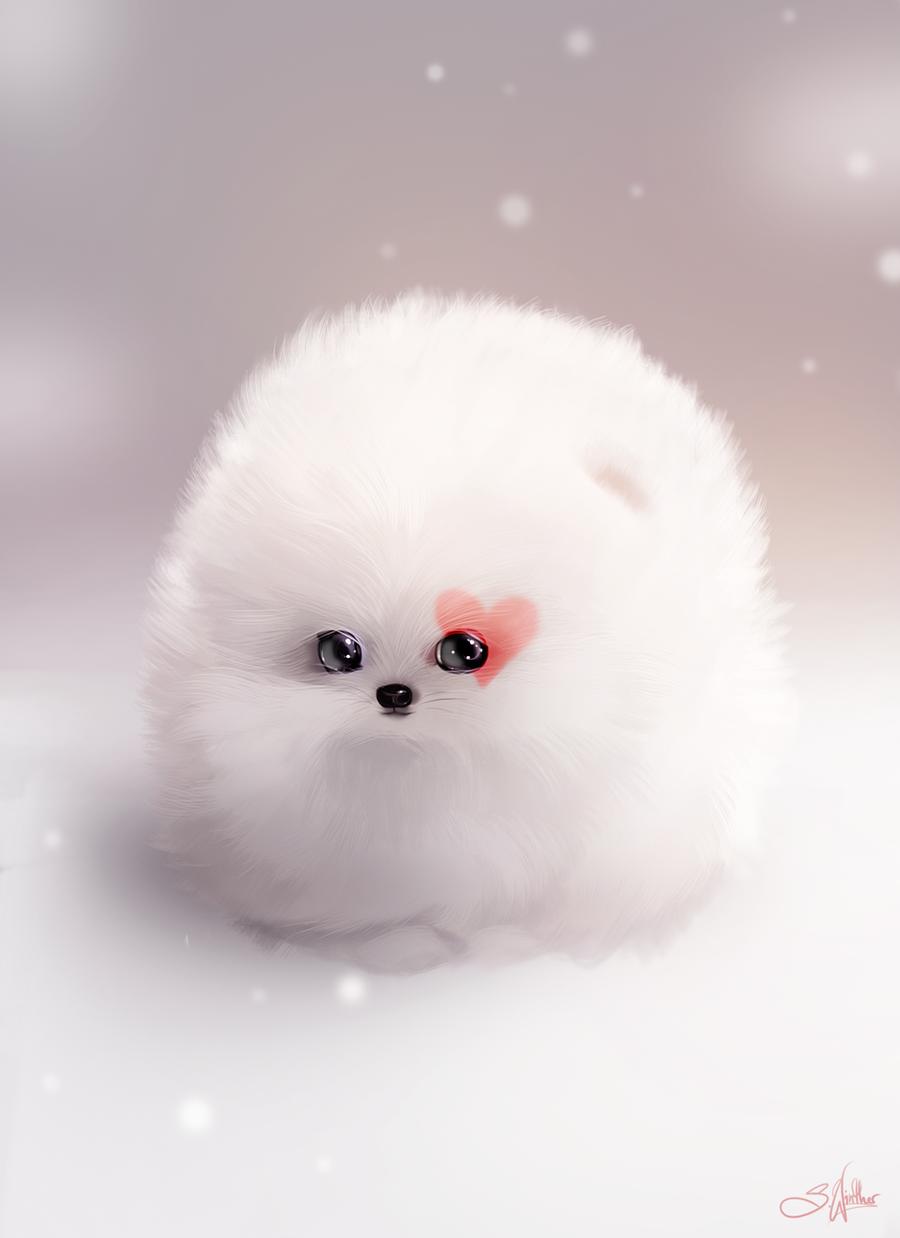 Valentine Fluffball by Sandramalie