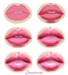 Glossy Lips - Step by step