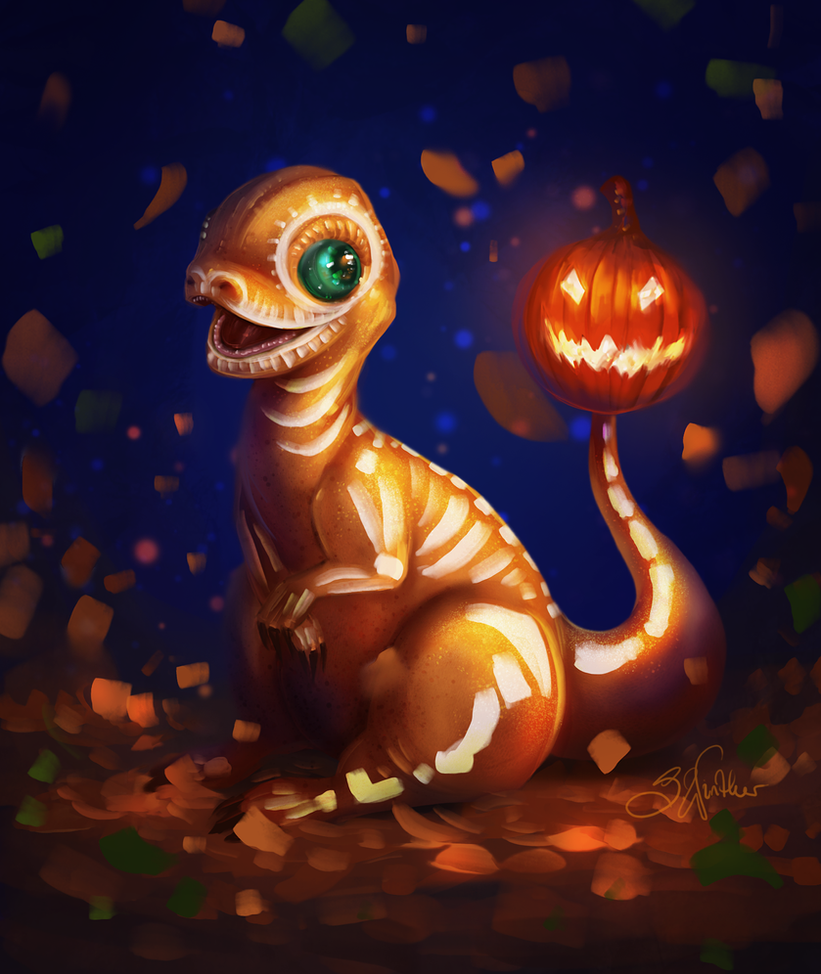 Halloween Charmander by SandraWinther