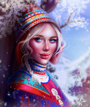 The Sami Girl by SandraWinther