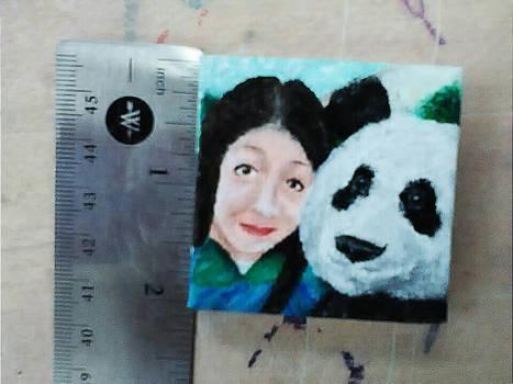 mini panda painting!