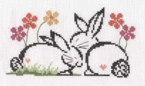 Love Bunnies cross stitch