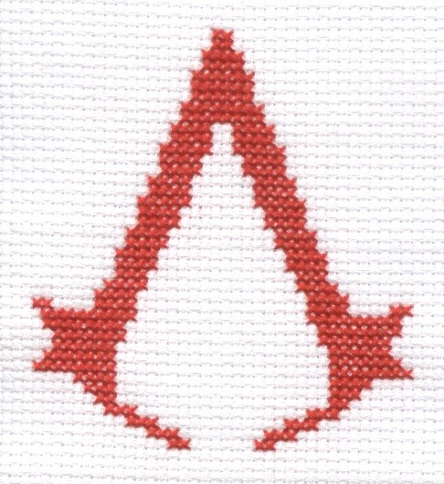 Assassin's Creed cross stitch by Lil-Samuu