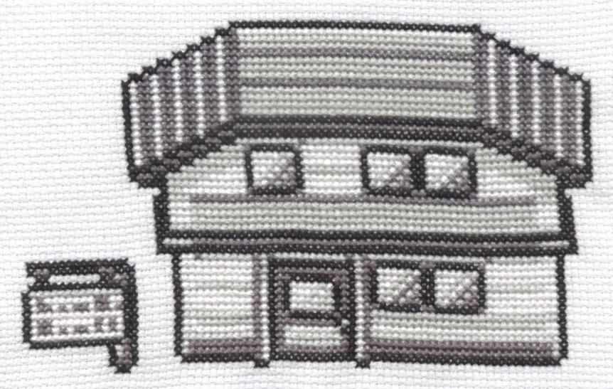Pokemon House cross stitch by Lil-Samuu