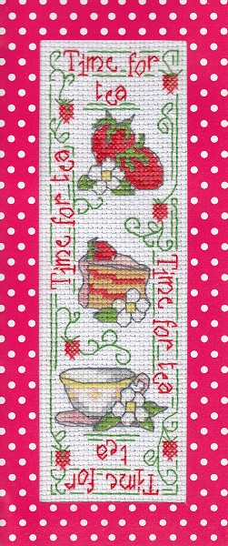 Time for Tea card cross stitch by Lil-Samuu