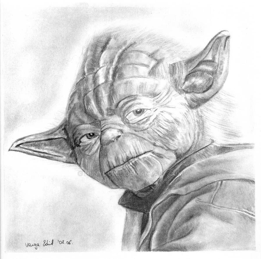 Yoda master pencil drawing by hunydolls