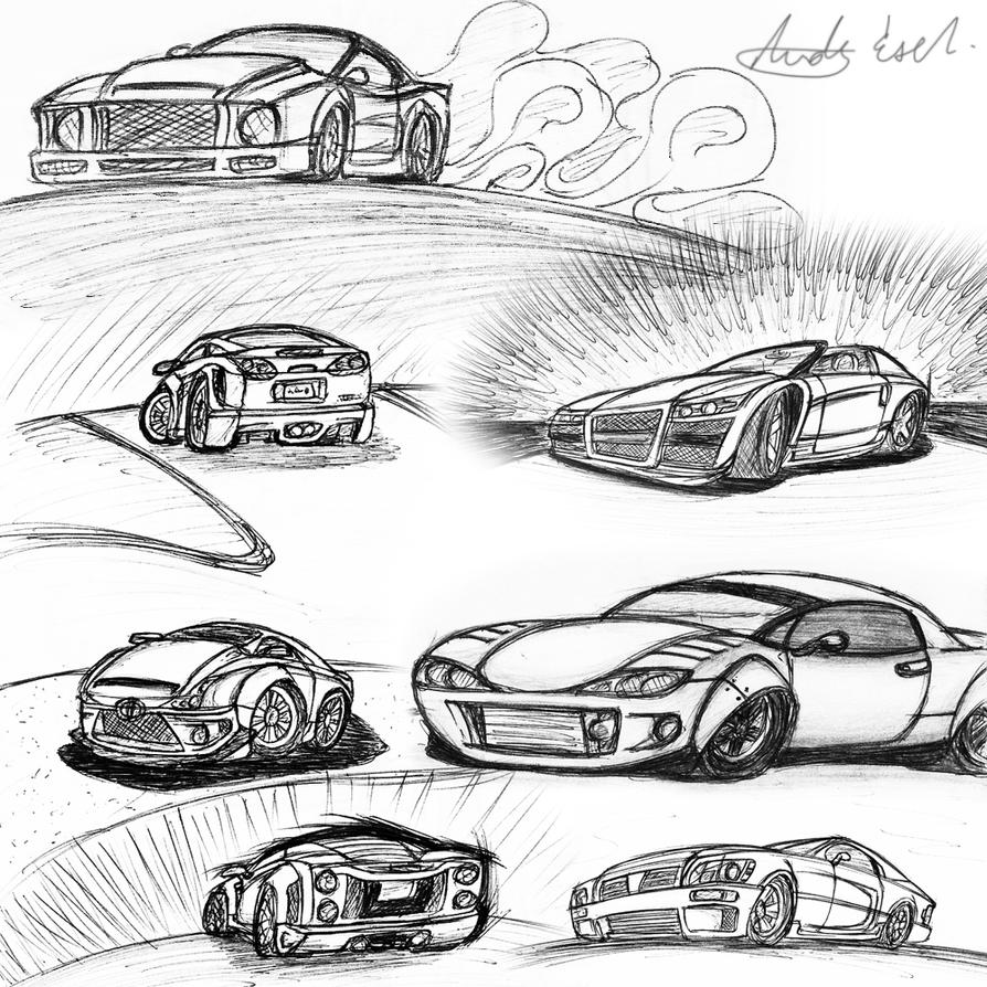 Car Sketches by Picolini on DeviantArt