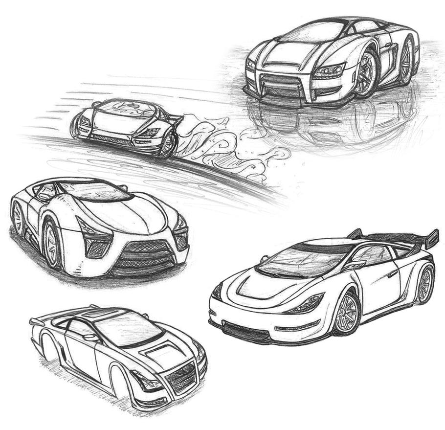 Car Sketches 3 by Picolini on DeviantArt