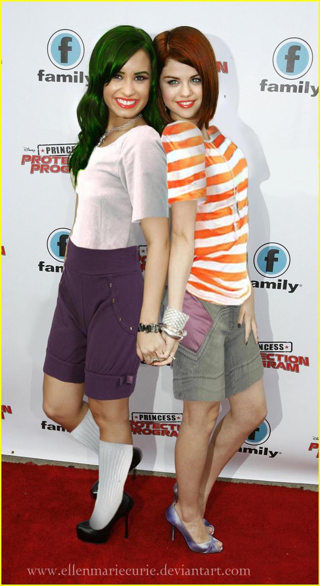 Selena Flynn and Demi Fletcher by EllenMarieCurie