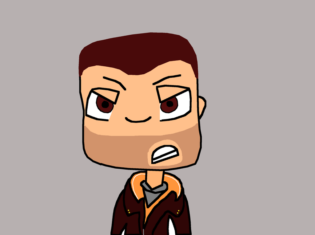 Niko Bellic Bust by cheeseater109