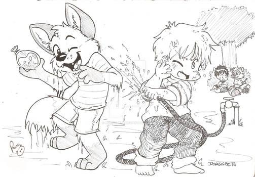 Sam and Biro - Water games