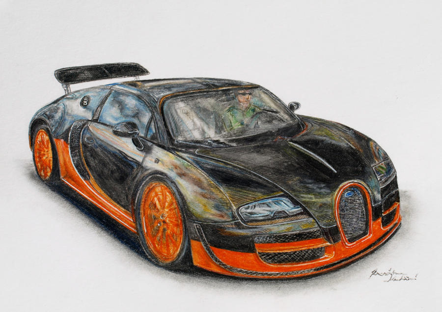 how to draw a car bugatti veyron fast and furious 7 step by step how to draw. Black Bedroom Furniture Sets. Home Design Ideas