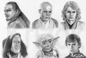 The Jedi Knights by krizok