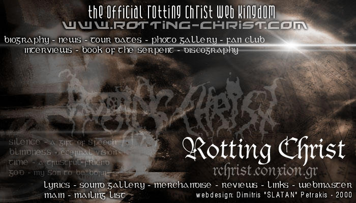 Rotting Christ website by slatan