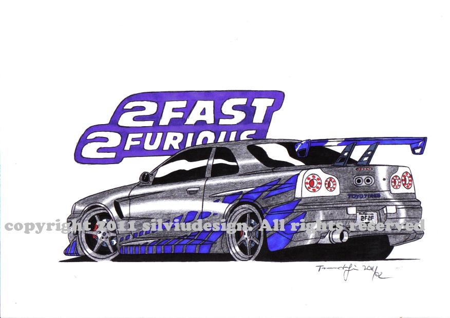 Cartoon Nissan Skyline Nissan Skyline gt R34 2f2f bk