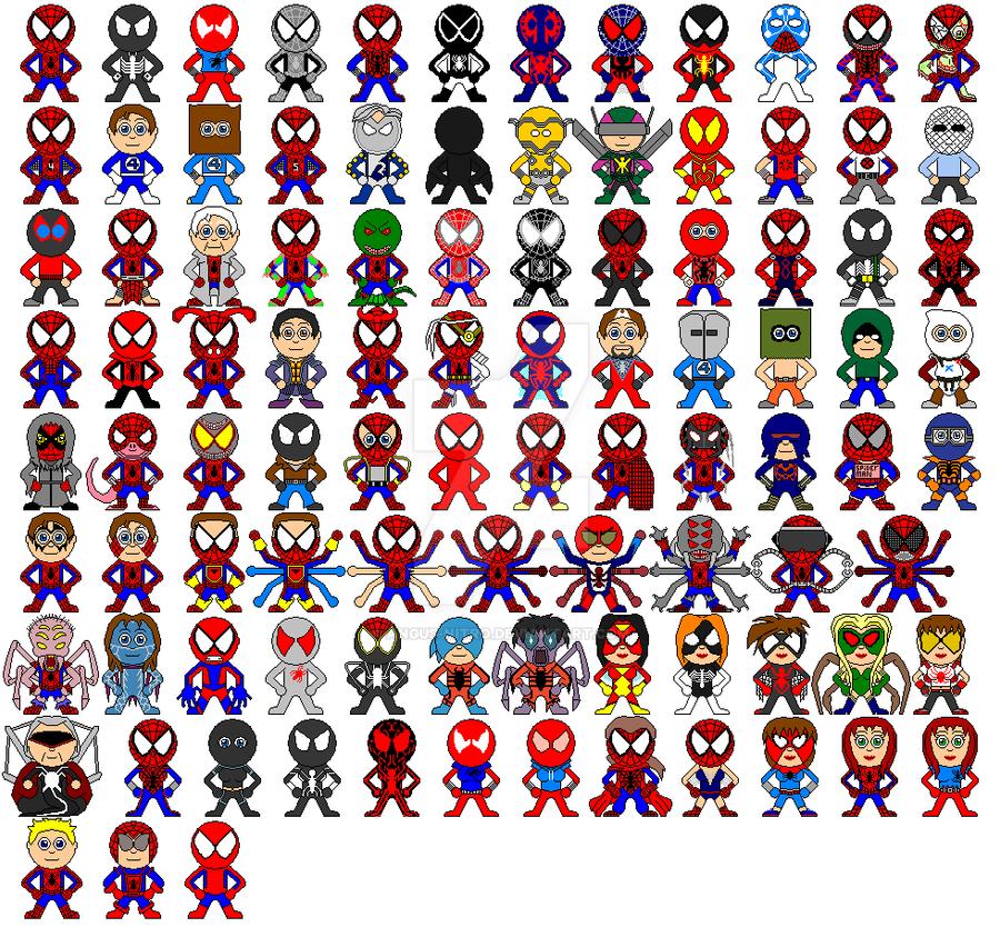 Spiderman family 1962-2009 by Angus-Nitro