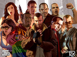 GTA IV Characters by LeipeAap