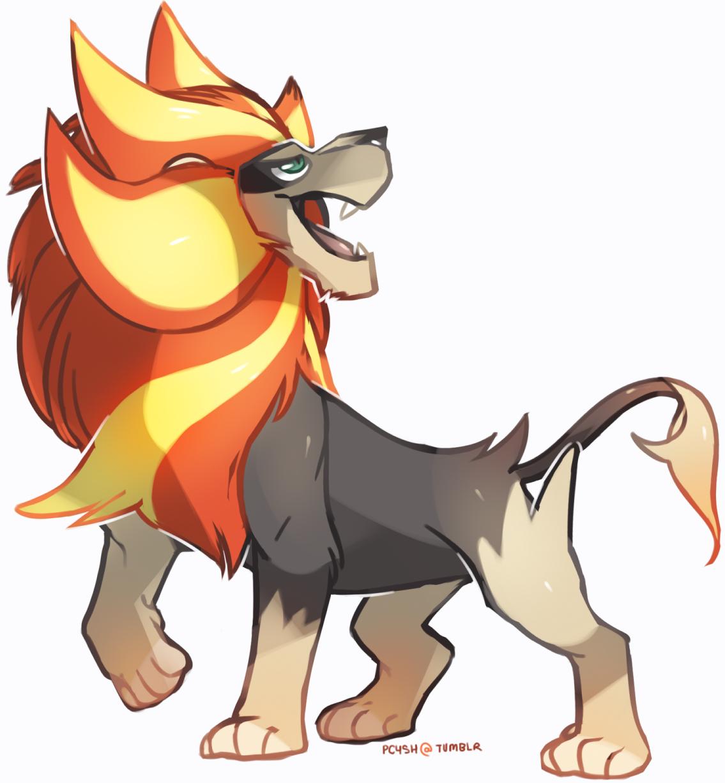 pyroar doodle by MBLOCK