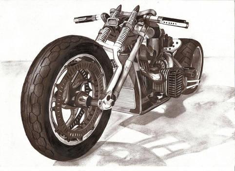 motorcycle pencil