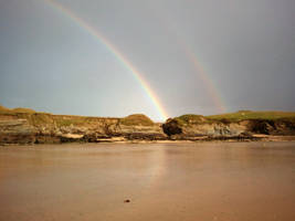 Rainbow over Porth Island by SomersetCider
