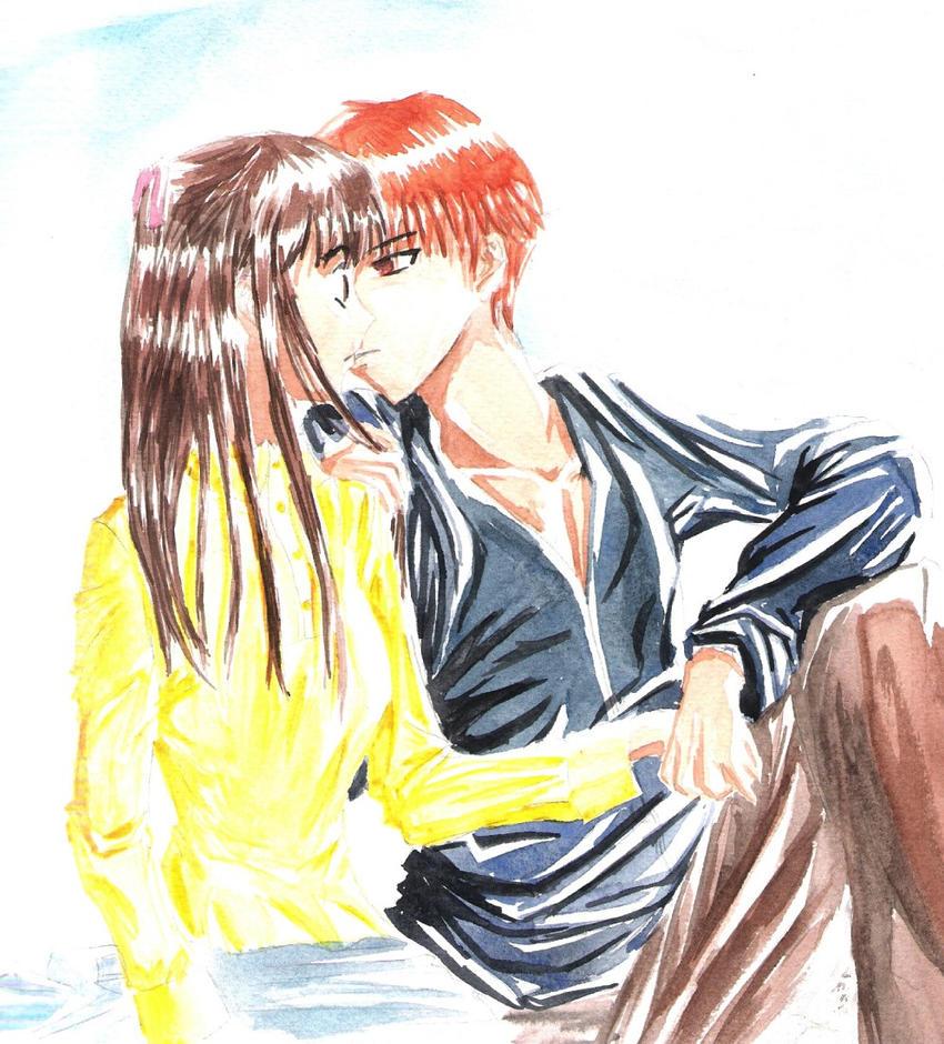 + Fruit Basket :Kyo X Tohru + By Mysterious-Kaede On
