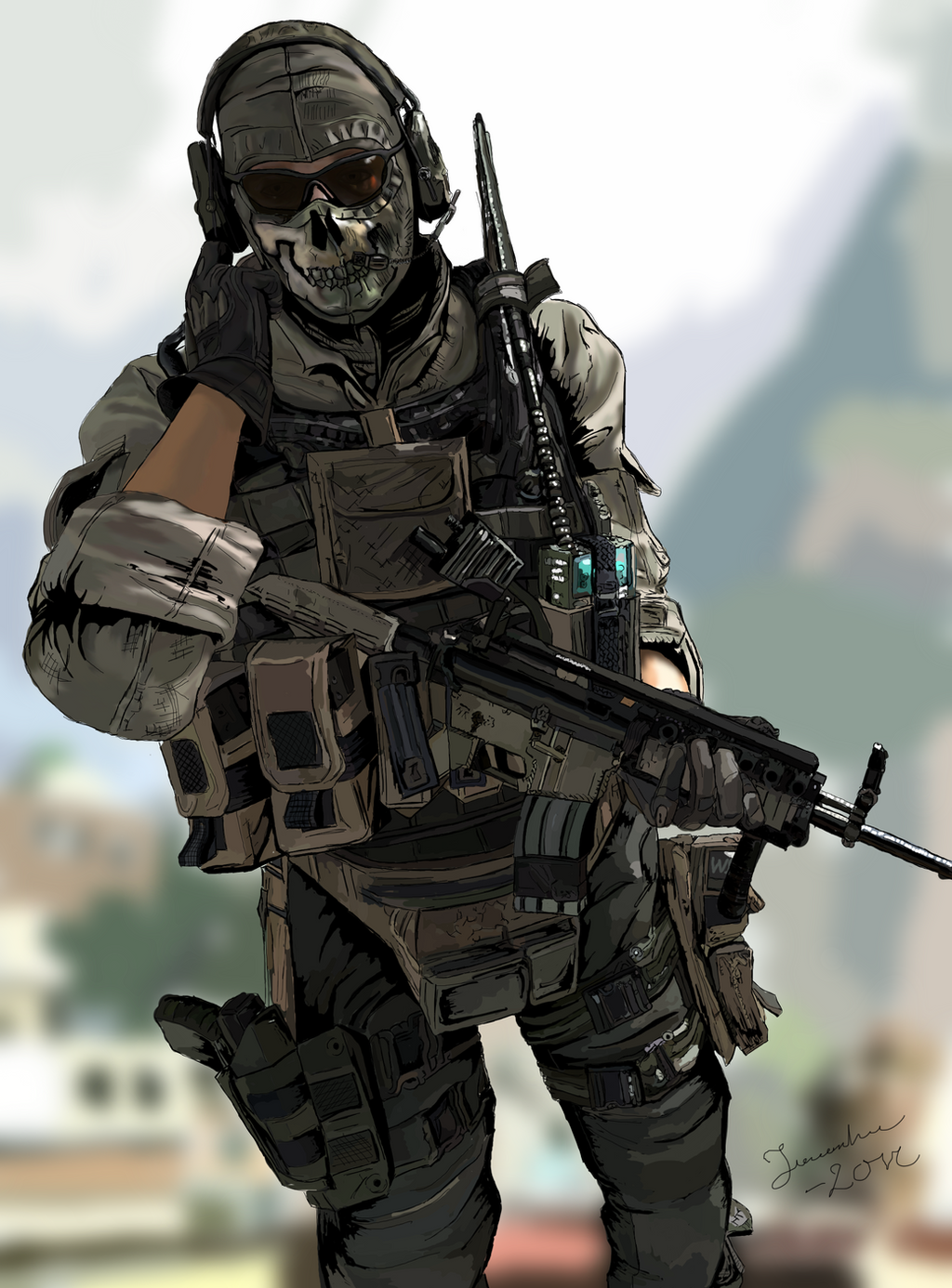 Zombie Ghost Modern Warfare 2 by DoomCMYK on DeviantArt