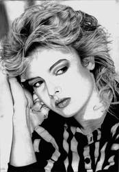 Kim Wilde Portrait DRAWING by Yankeestyle94