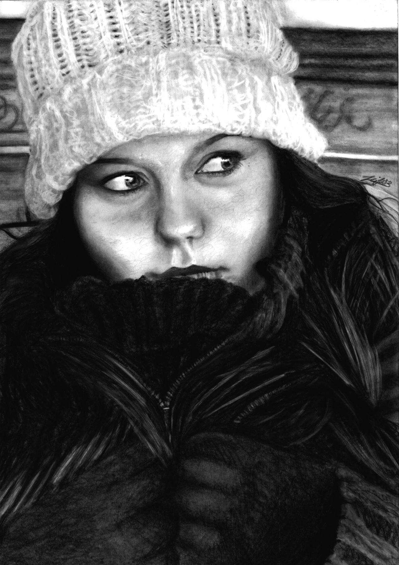 Self Portrait DRAWING by Yankeestyle94