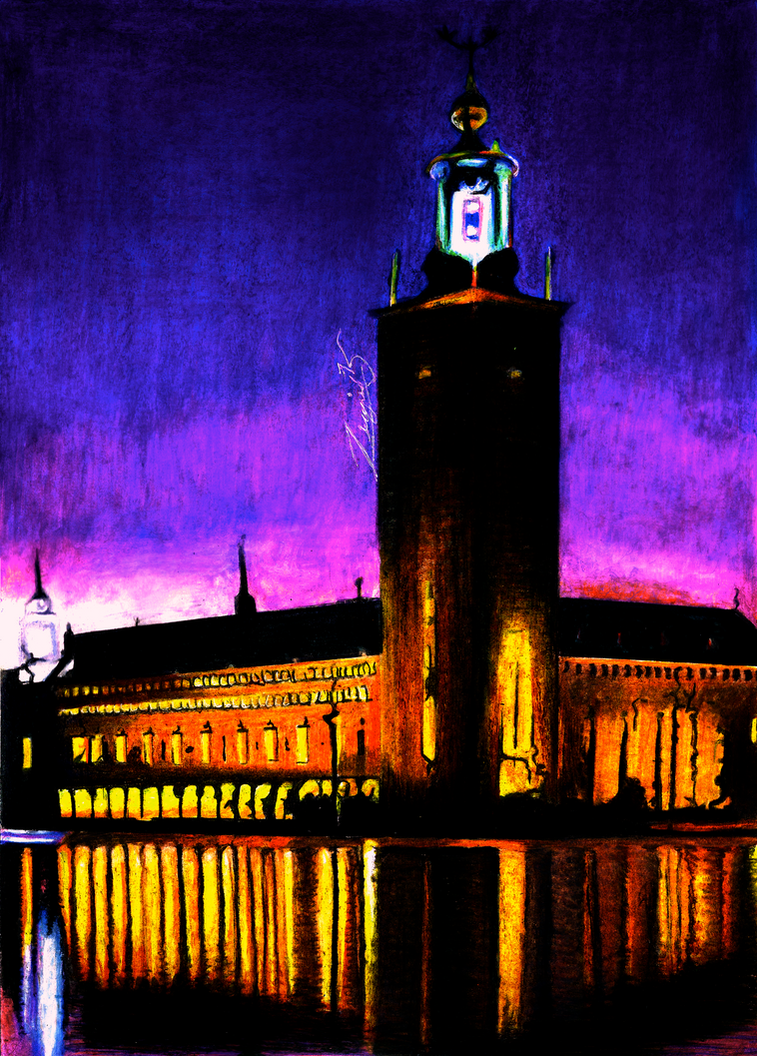 Stockholm City Hall by Yankeestyle94