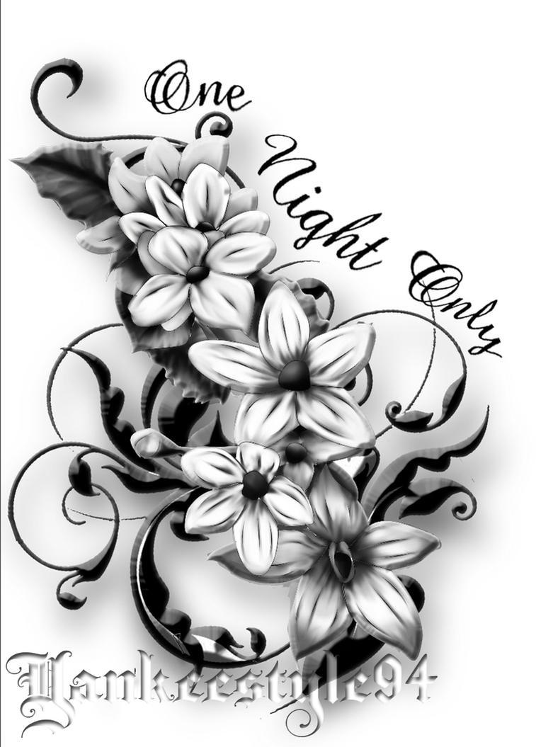 jasmine tattoo by yankeestyle94 on deviantart. Black Bedroom Furniture Sets. Home Design Ideas