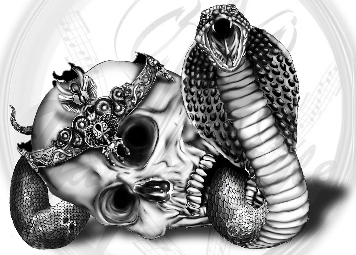 King Cobra TATTOO by Yankeestyle94 on DeviantArt Cobra Skeleton Tattoo