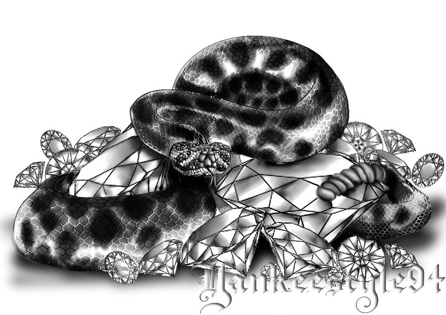 Diamondback Rattlesnake by Yankeestyle94