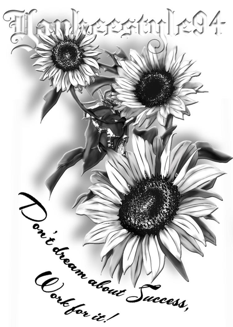 Sunflower TATTOO by Yankeestyle94