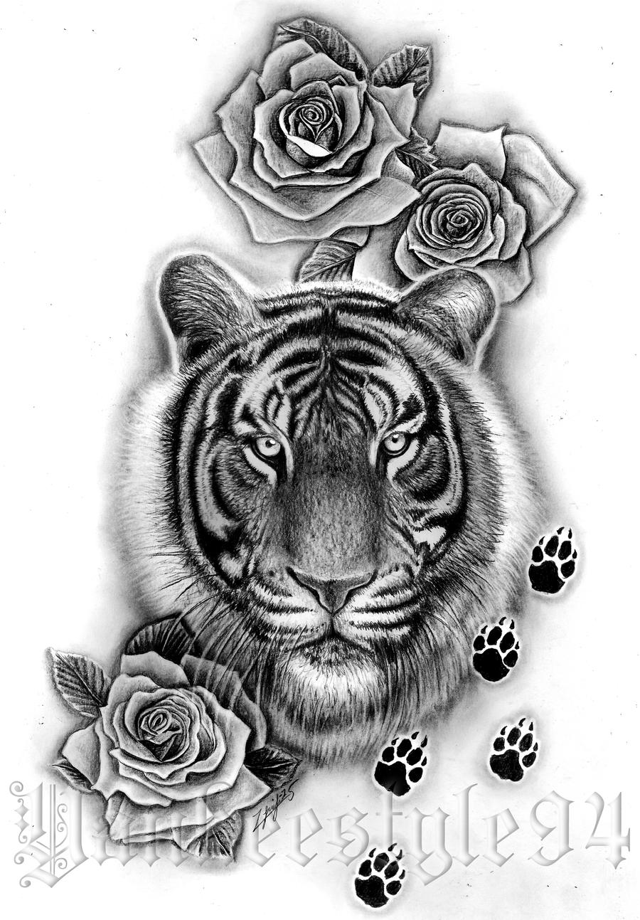 tiger tattoo by yankeestyle94 on deviantart. Black Bedroom Furniture Sets. Home Design Ideas