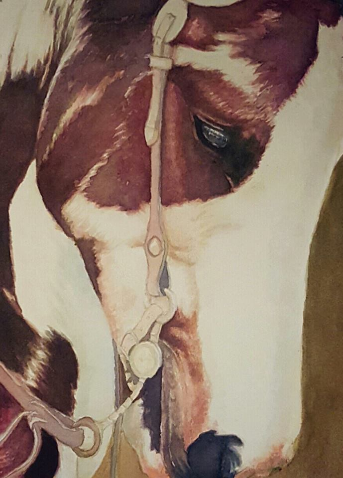 Water color Horse Painting wip 2 by Yankeestyle94