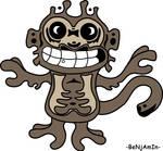 Monkey tattoo colour by Dank-Monkey