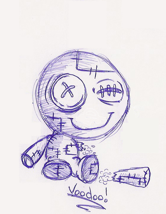 Voodoo Doll Sketch by Dank-Monkey