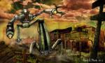 Steampunk WW Apocalypsis Robot
