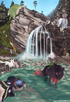 waterfall by fallenDragonfly